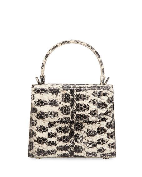 Nancy Gonzalez Lily Mini Snake & Crocodile Top-Handle Bag