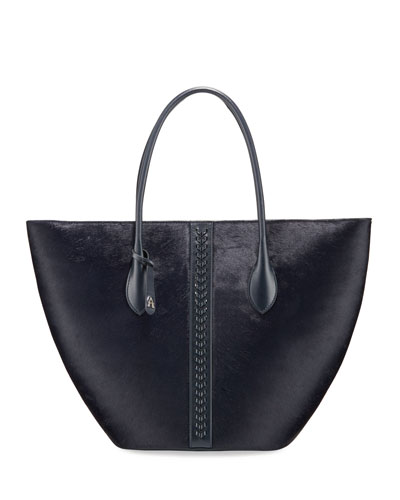 Latifa Small Leather Tote Bag