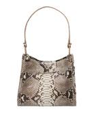 Nancy Gonzalez Medium Crocodile and Python Hobo Bag