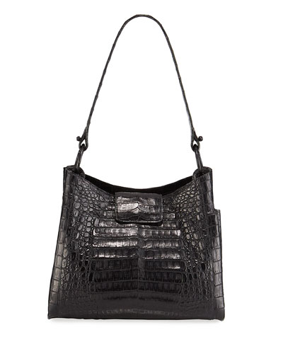 Medium Soft Crocodile Hobo Bag
