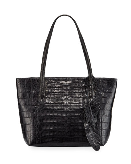 Nancy Gonzalez Erica Small Crocodile Leaf Tote Bag