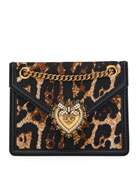 Dolce & Gabbana Devotion Leopard-Print Crossbody Bag