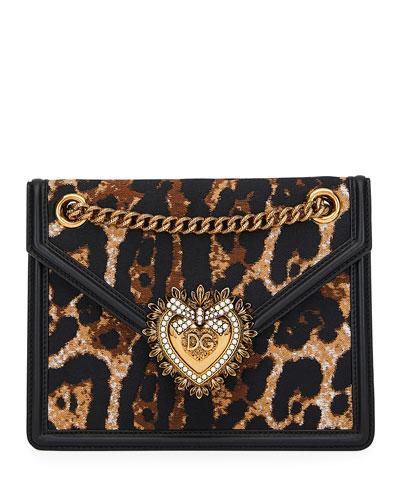 51902218befb Quick Look. Dolce & Gabbana · Devotion Leopard-Print Crossbody Bag