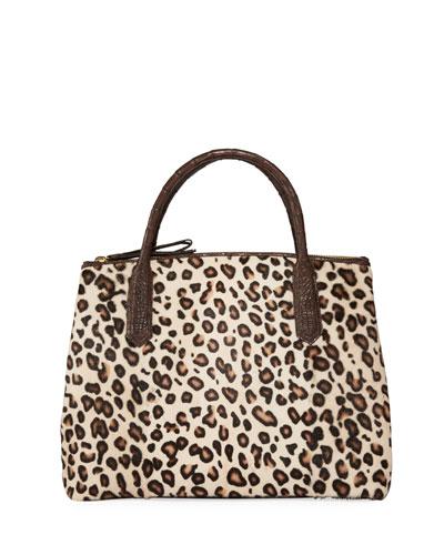 Nyx Medium Crocodile and Leopard Tote Bag