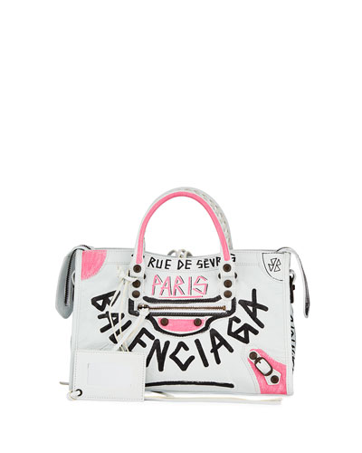 Classic City AJ Graffiti Leather Tote Bag