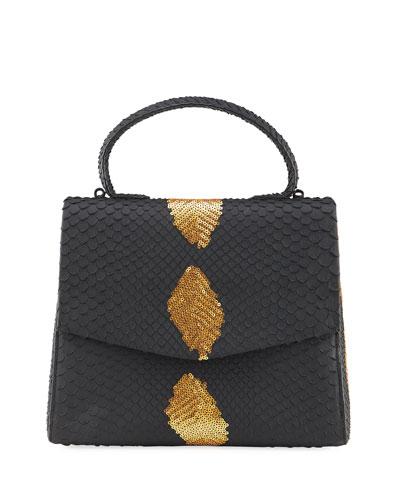 Lolita Small Python Top Handle Bag