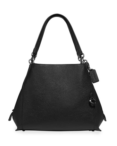 really cheap latest collection look for Black Pebbled Leather Handbag | Neiman Marcus