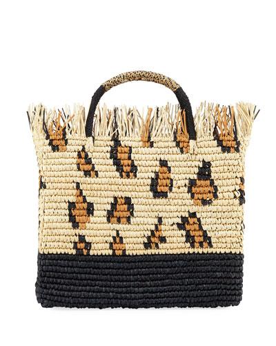 Canasta Mexicana Leopard Tote Bag