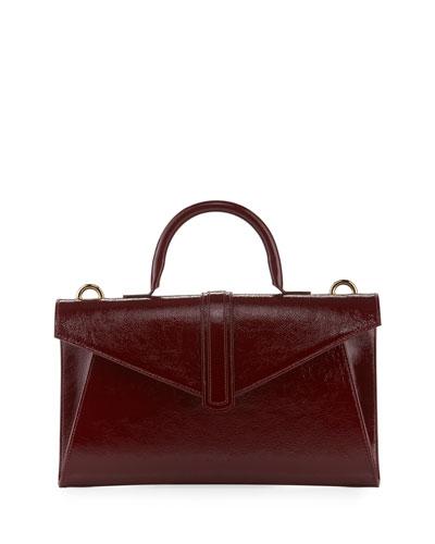 Valery Medium Soft Crossbody Bag, Dark Red