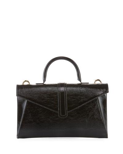 Valery Medium Soft Crossbody Bag, Black