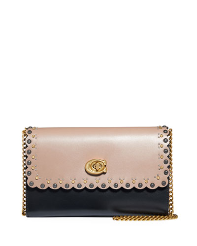 Marlow Scallop Rivets Shoulder Bag
