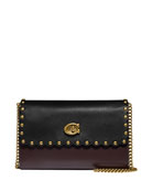 Coach 1941 Marlow Colorblock Scallop Rivets Shoulder Bag
