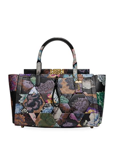 x Kaffe Fassett Bar Carryall 35 Coated Canvas Signature Bag with OTT Print