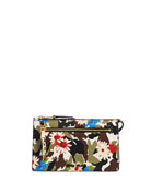 Miu Miu Craquele Printed Zip Crossbody Wallet