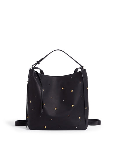 Mazzy Studded Leather Backpack