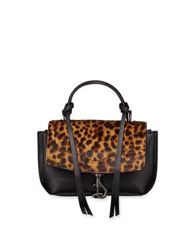 Stella Mini Calf Hair Flap Satchel Bag