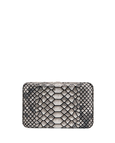 Seamless Python Crystal Clutch Bag