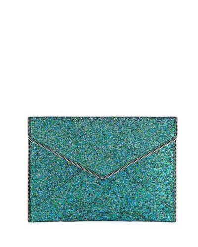 Leo Glitter Clutch Bag