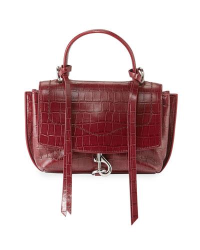 Stella Mini Crocodile-Embossed Crossbody Bag