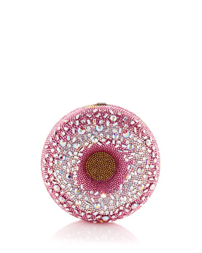 Strawberry Sprinkle Donut Clutch Bag
