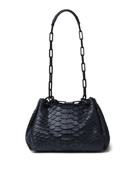 Callista Mini Python Hobo Bag