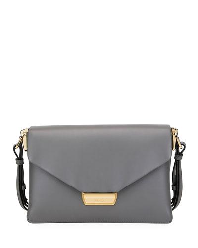 Ingrid Smooth Leather Shoulder Bag