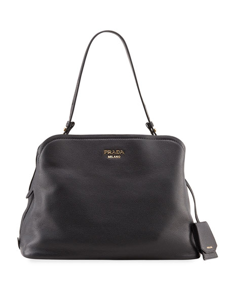 Prada Large Matinee Top Handle Tote Bag