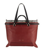 Proenza Schouler PS19 Large Smooth Leather & Snakeskin