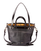 Proenza Schouler PS19 Small Leather and Snakeskin Crossbody