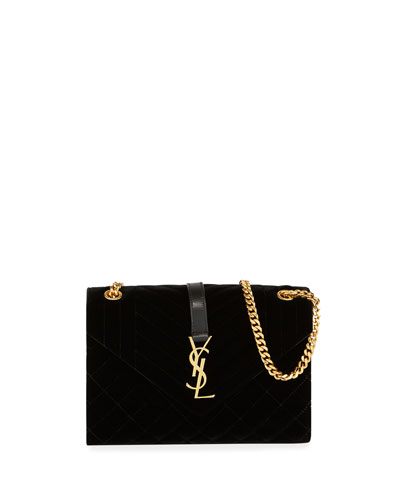 Medium YSL Tri-Quilt V Flap Shoulder Bag