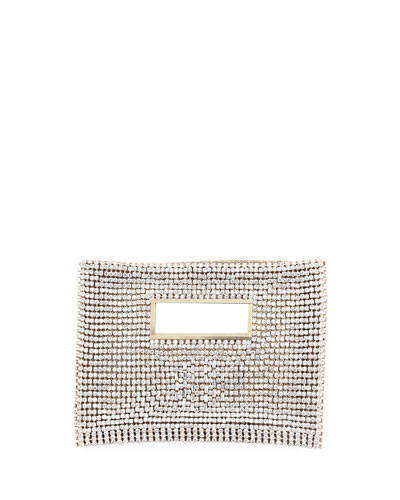 Iside Crystal Velvet Clutch Bag