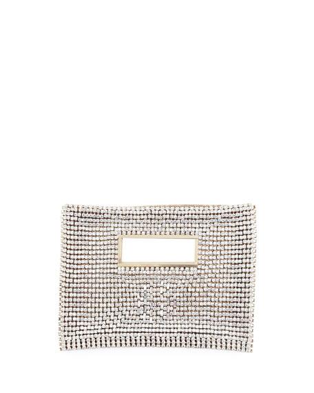 Rosantica Iside Crystal Velvet Clutch Bag