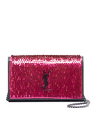 Saint Laurent Kate YSL Paillette Wallet On Chain