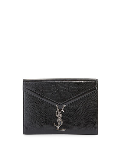 Cassandra Medium YSL Metallic Wallet On Chain