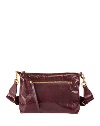 Nessah New Distressed Leather Crossbody Bag