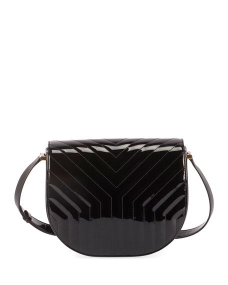 Saint Laurent Joan Demi-Moon Quilted Crossbody Bag