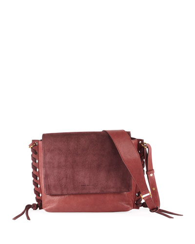 Asli Mixed-Media Shoulder Bag