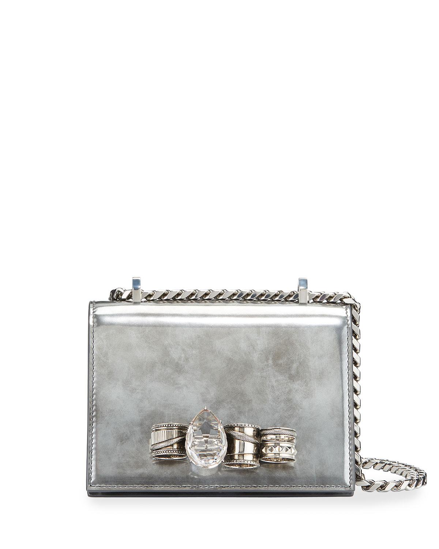 Alexander Mcqueen Shoulder bags SMALL ANTIQUED JEWELED SATCHEL SHOULDER BAG
