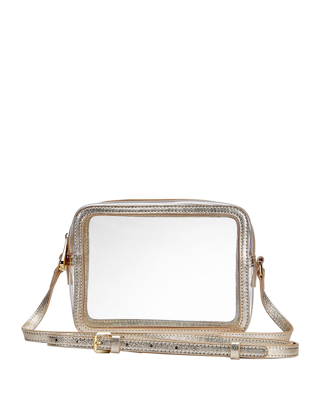Gigi New York COLLINS PVC CROSSBODY BAG WITH METALLIC BORDER
