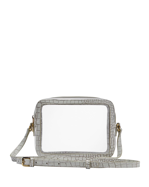 Gigi New York COLLINS PVC CROSSBODY BAG WITH CROCO BORDER