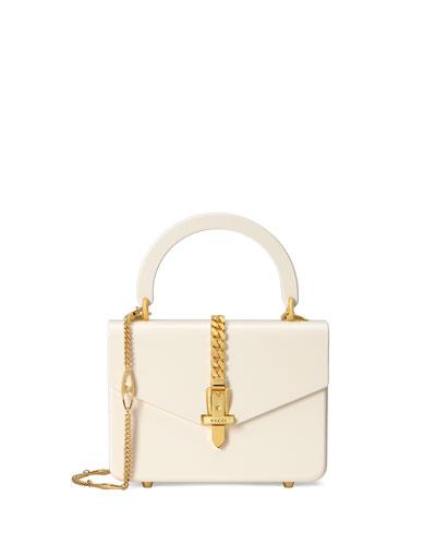 Sylvie Mini Leather Top Handle Bag
