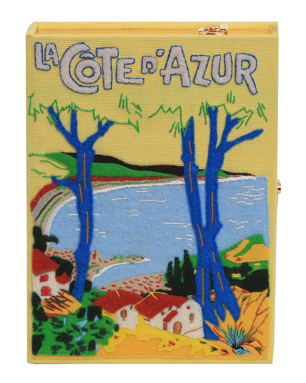 Olympia Le-Tan Crossbody LA COTE D'AZUR STRAPPED BOX BOOK CROSSBODY BAG
