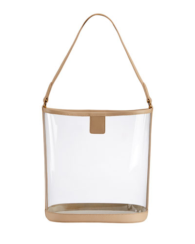 Virginia PVC Hobo Bag with Leather Trim