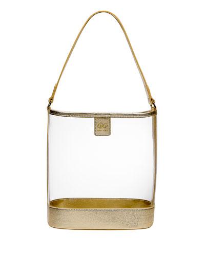Virginia PVC Hobo Bag with Metallic Trim