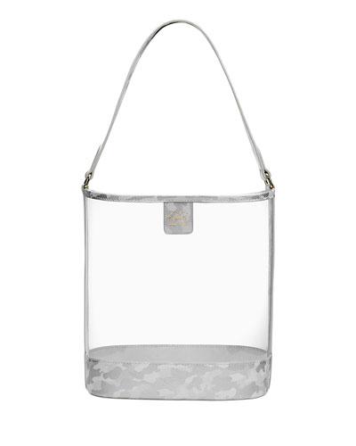 Virginia PVC Hobo Bag with Camo Trim