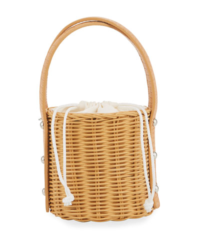 Quan Woven Top-Handle Bag