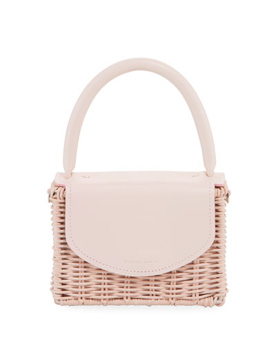 Babing Woven Top-Handle Bag