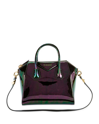 Antigona Small Holographic Satchel Bag