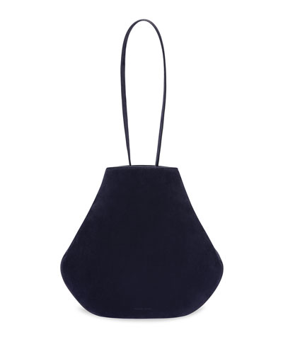 Suede Drawstring Pouch Bucket Bag
