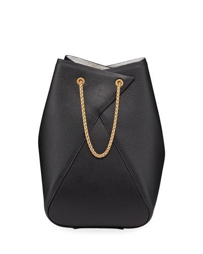 Mani Leather Bucket Bag